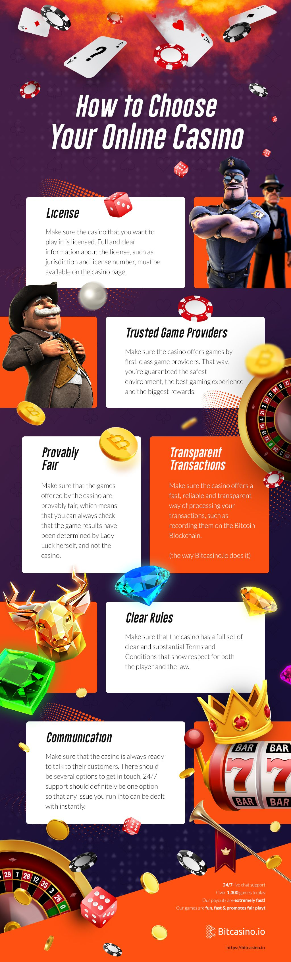 How to choose an online casino daily infographicdaily