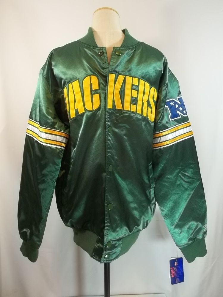 new concept 67295 a75bd Details about NEW MEN'S STARTER GREEN BAY PACKERS SATIN ...