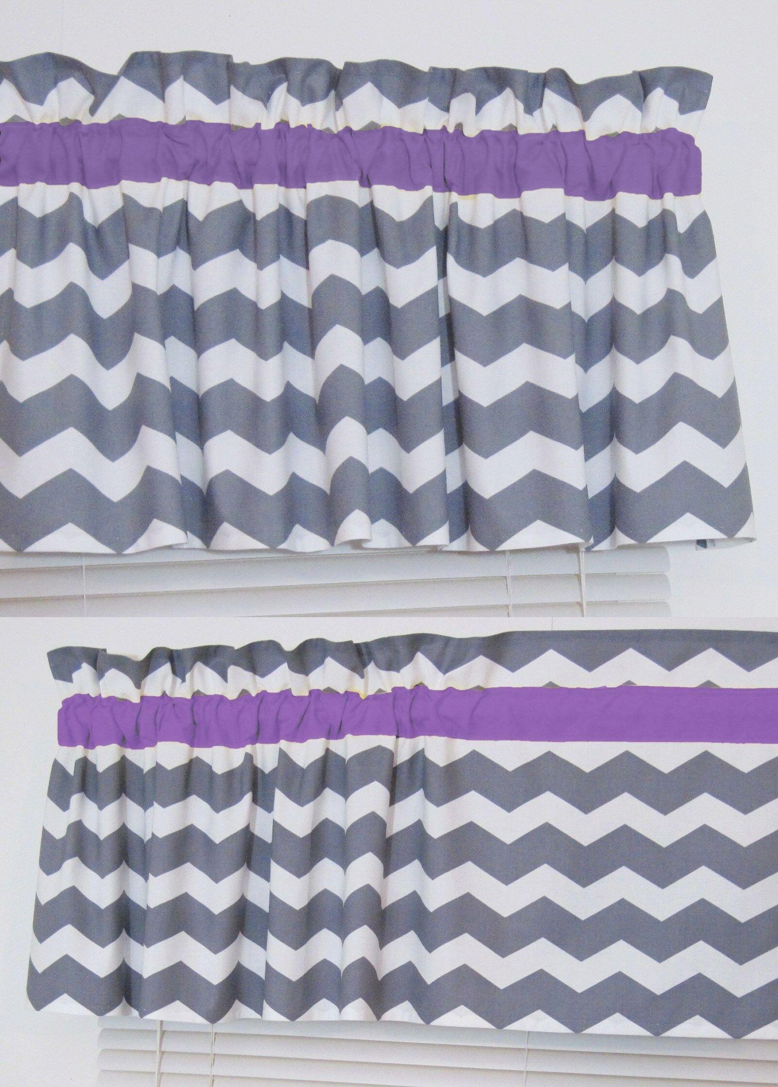 Window Treatments 20431: Purple And Gray Chevron Window Valance Zig ...
