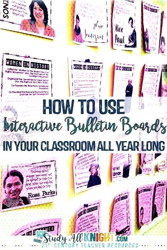 to Use Interactive Bulletin Boards In Your Classroom All Year Long - Study All Knight There areTher
