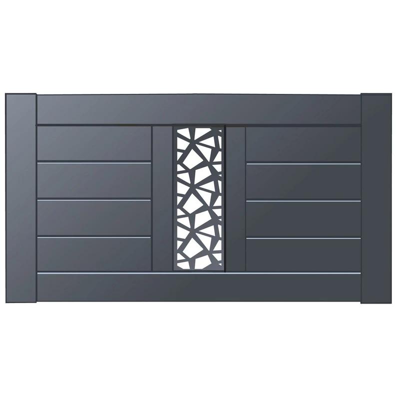 Cloture Aluminium Mixit Naterial Divers Coloris Disponibles H 80 X L 150 Cm Leroy Merlin Door Gate Design House Gate Design