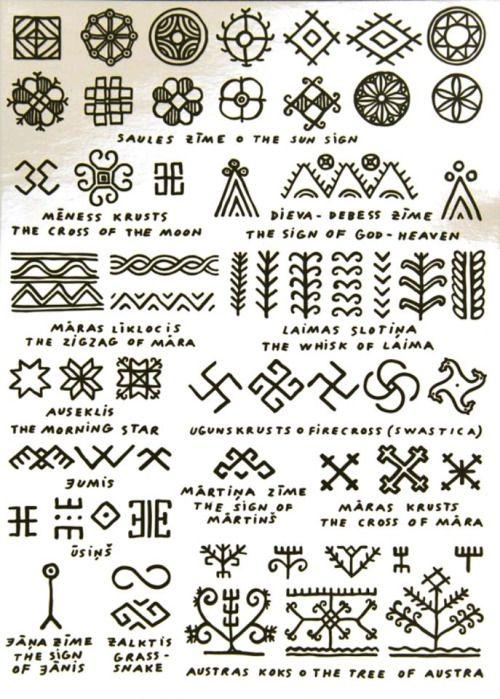 Symbols And Signs From Latvian Folkloremythology Henna Tips