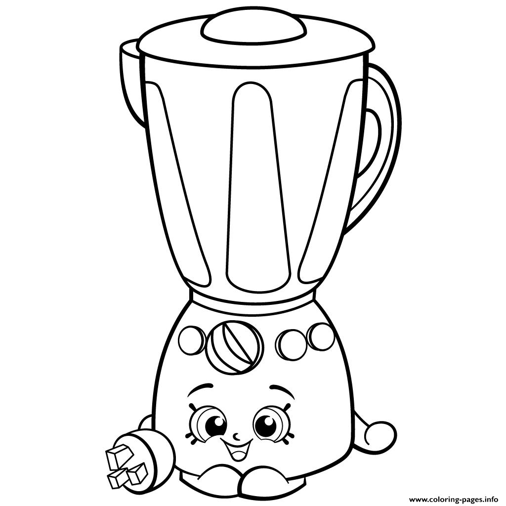 Shopkins Coloring Pages Popcorn. Print Brenda Blender from Homewares shopkins season 2 coloring pages