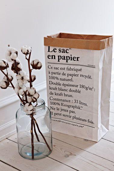 Le sac de papier-le paper bag http://www.oui-oui.es/decoracion/563-le-sac-en-papier-the-paper-bag.html