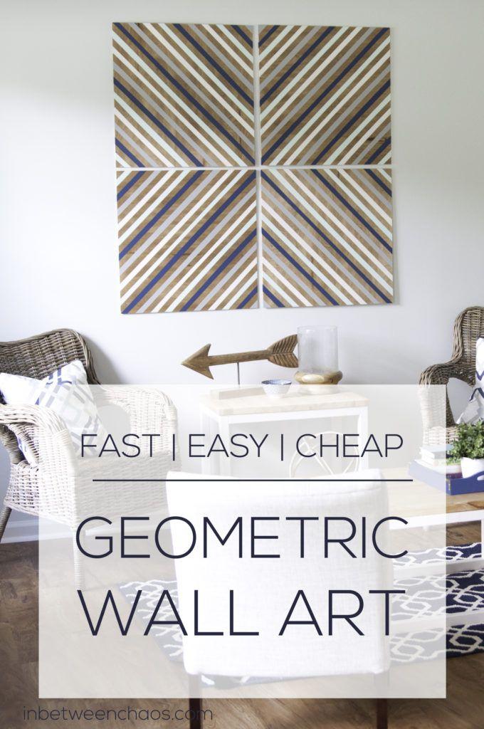 Easy And Cheap Diy Big Geometric Wall Art Cheap Diy Wall Art