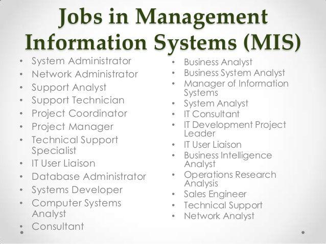 About Management Information System Mis Developer Jobs Skills In