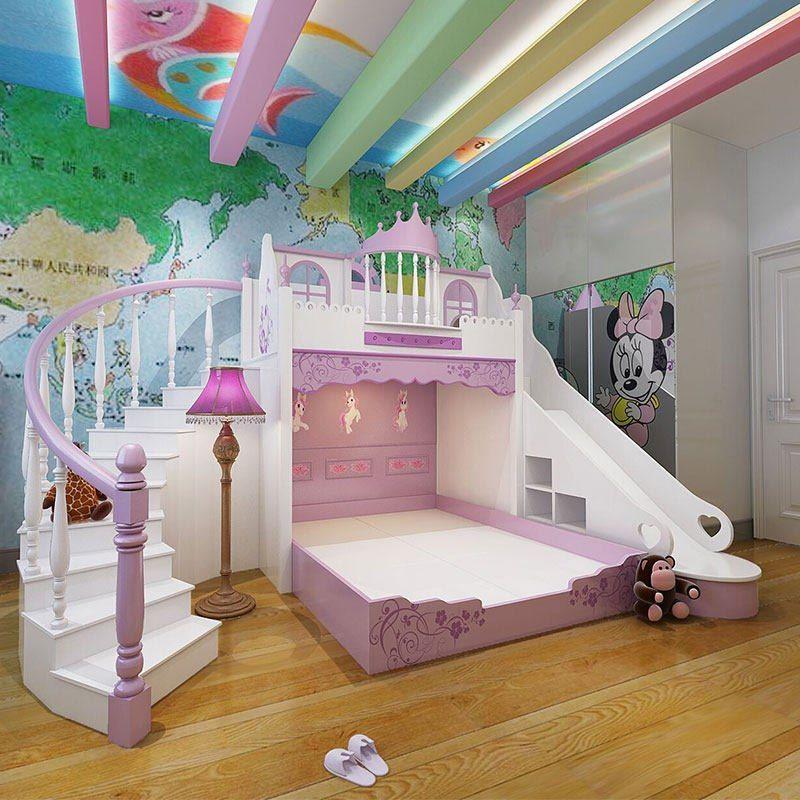 Enfants De Lit Princesse Chateau Lit Princesse Ensemble De