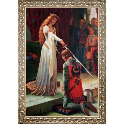 Tori Home The Accolade, 1901 by Edmund Leighton Framed Graphic Art