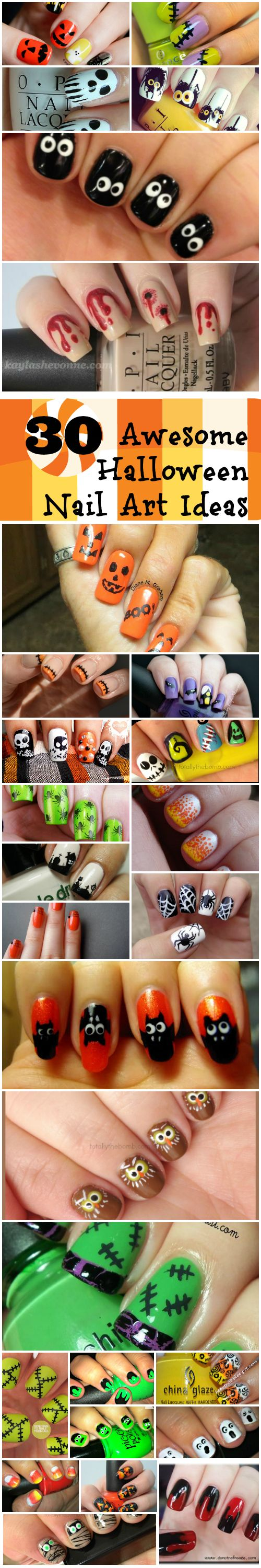 30 Awesome Halloween Nail Art Ideas | 30th, Nail wraps and Holidays