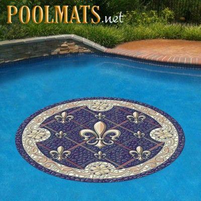 Fleur de Lis Mosaic | Pool Decals | Non-adhesive pool emblem ...