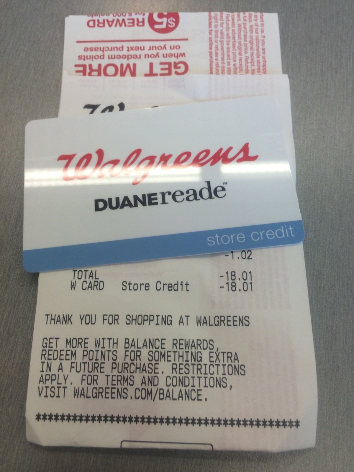 Walgreens merchandise credit gift card 322213607891 gift cards i have a walgreens merchandise credit gift card with a value of 1801 any questions please kristyandbryce Gallery