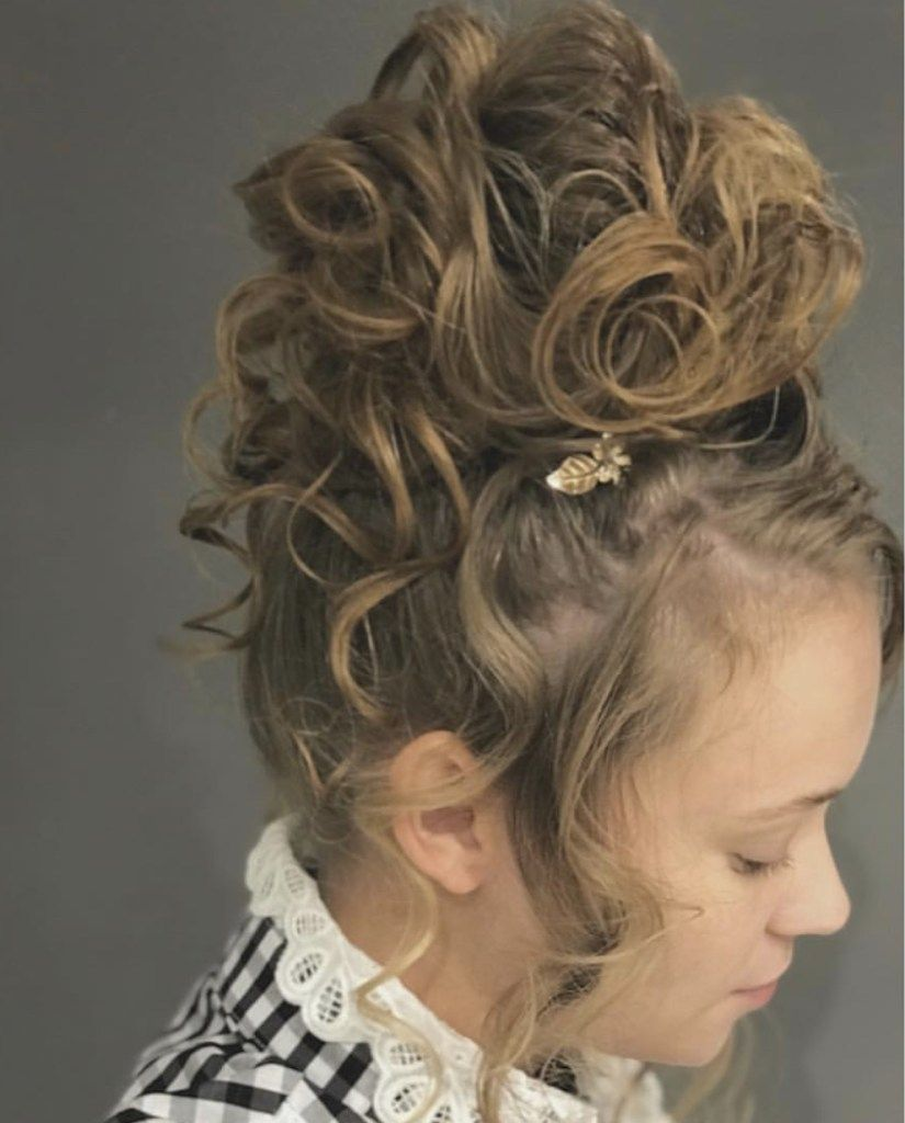 Dressy Updo Curly Hairstyle Tutorial Mandy Bowen Curly