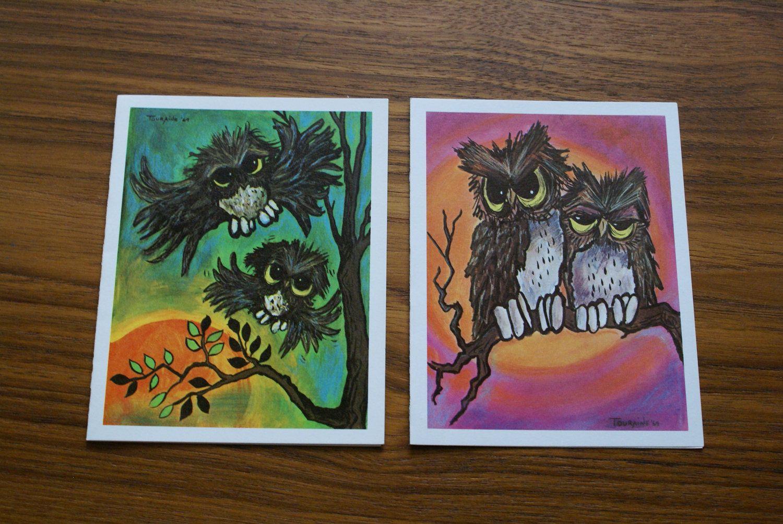 2 vintage 1960s emilie touraine owl note greeting card print 1600 2 vintage 1960s emilie touraine owl note greeting card print 1600 via etsy kristyandbryce Gallery