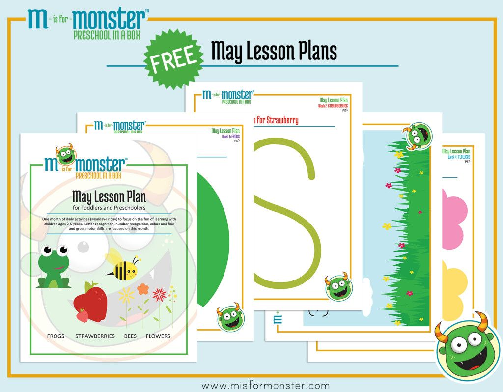 May Toddler and Preschool Lesson Plan   Free, Activities and School