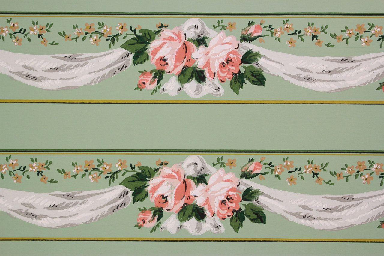 Wallpaper border on Etsy Wallpaper border, Vintage