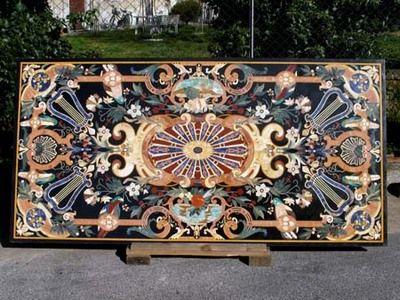 Tavolo Intarsiato ~ Http: www.lepietresrl.com foto tavolo intarsiato in marmo e