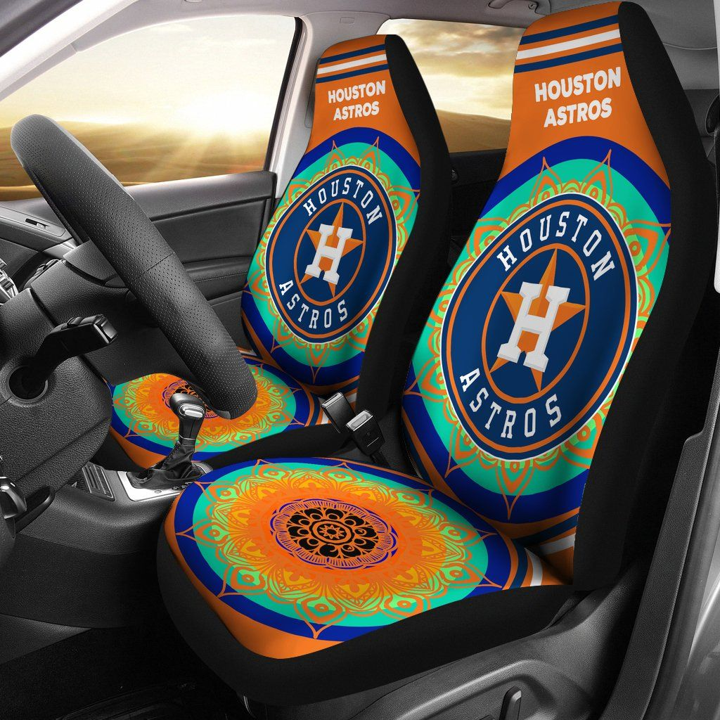 Magical And Vibrant Houston Astros Car Seat Covers