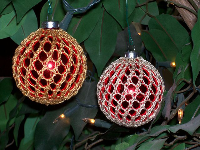 Lace Ornament Cover Pattern By Theresa Rogerson Christmas