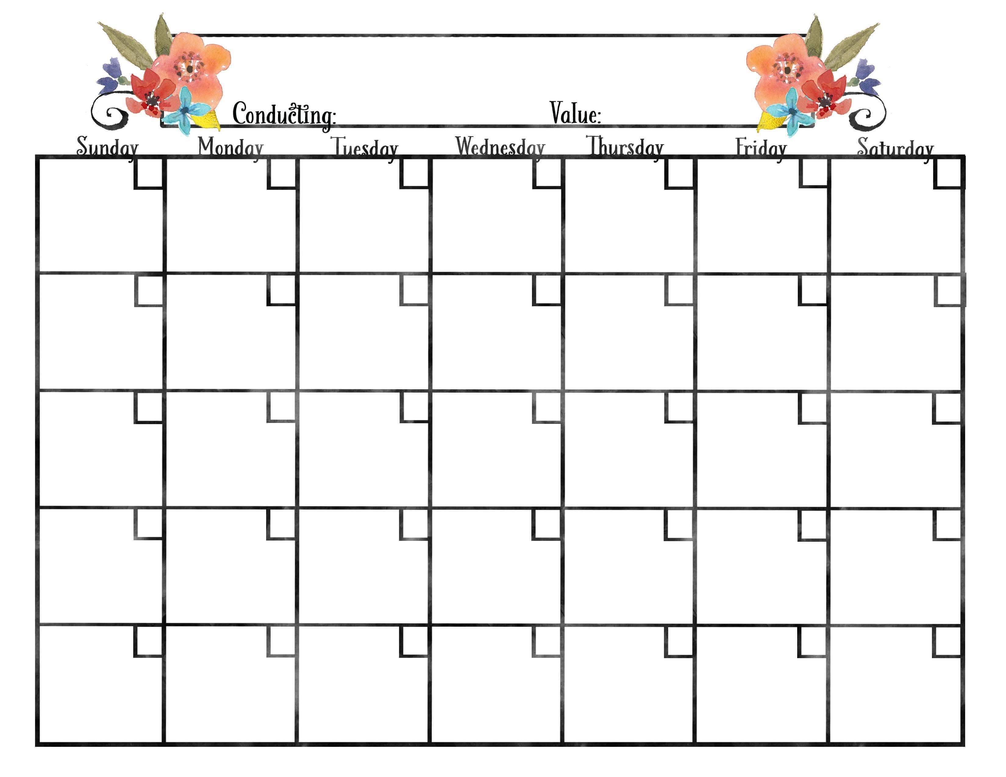 Calendars For Young Women  Free Blank Calendar Blank