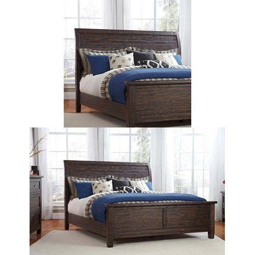 Ashley Furniture Signature Design Trudell Master Bedroom Set Casual Queen Sleigh Bedset Dark