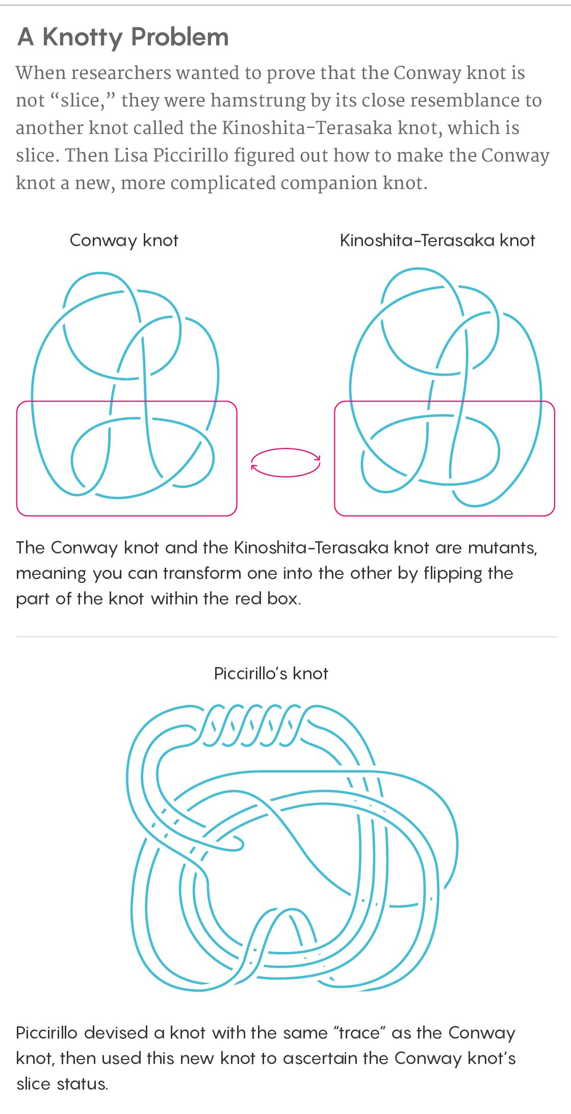 Graduate Student Solves Decades Old Conway Knot Problem Quanta Magazine In 2020 Conway Student Knots