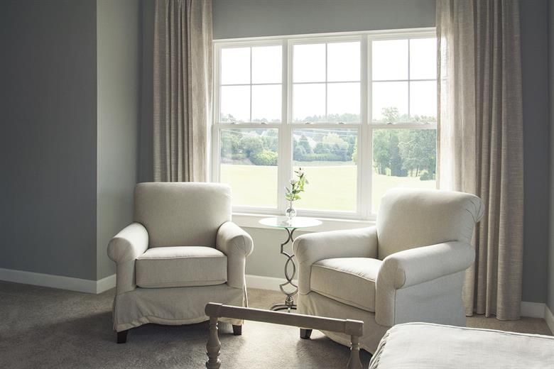 MI 3540 Single-Hung Windows in Living Room   Living room ...
