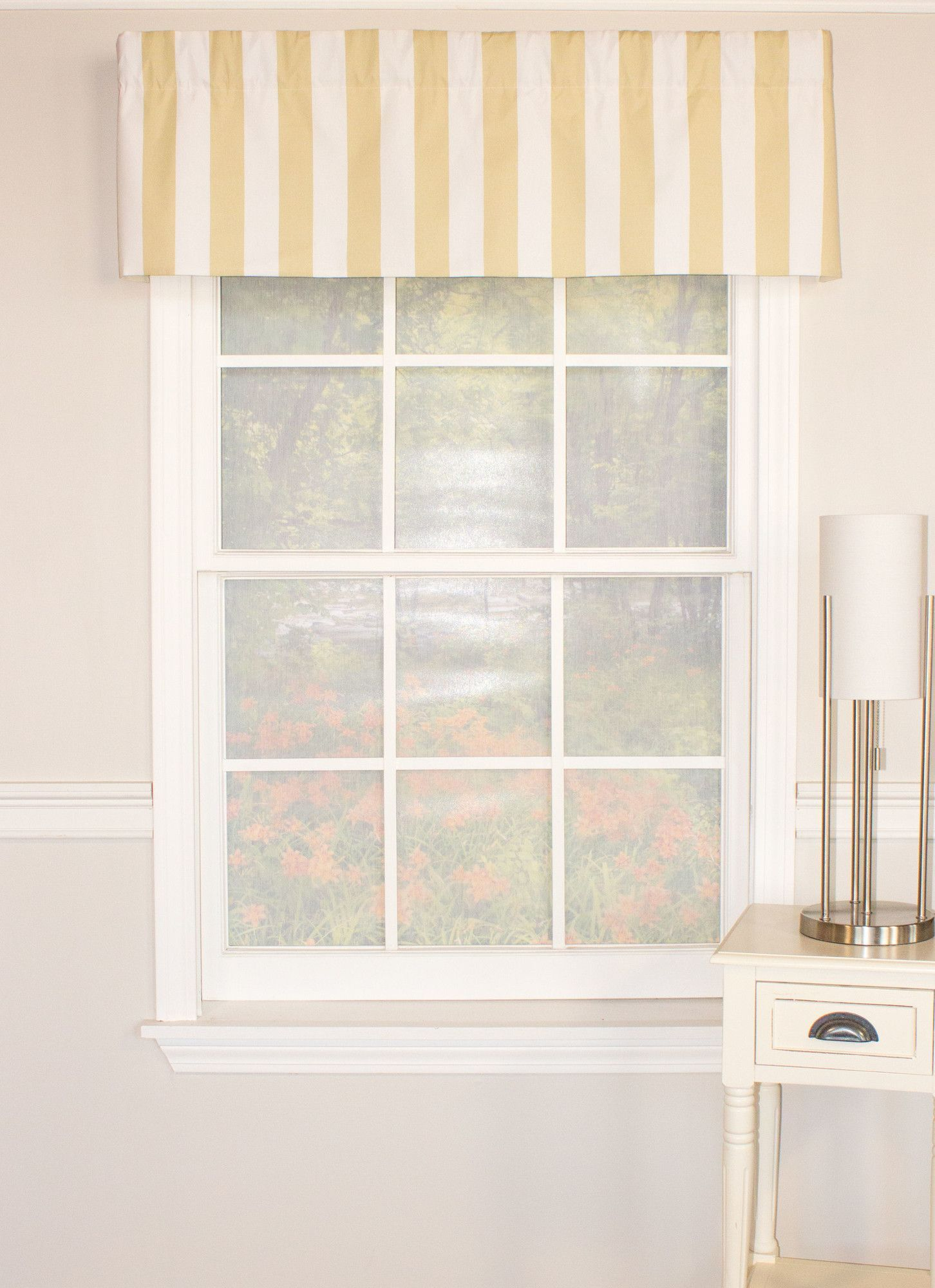 Awning Stripe Staight Curtain Valance | Living room | Pinterest ...