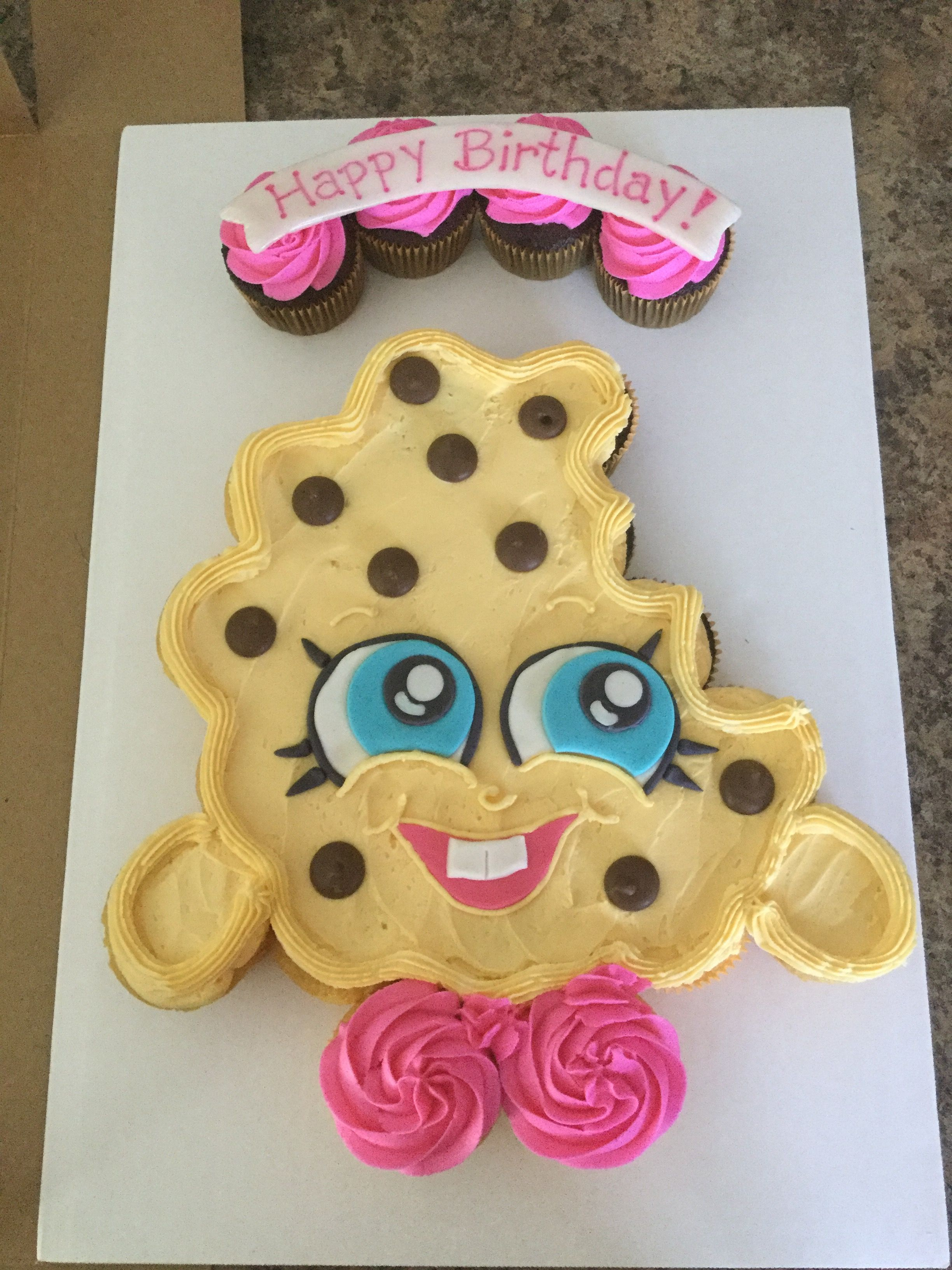 Kookie Cookie Cupcake Cake Shopkins Shopkins Birthday Cake Shopkins Cake Pull Apart Cupcake Cake