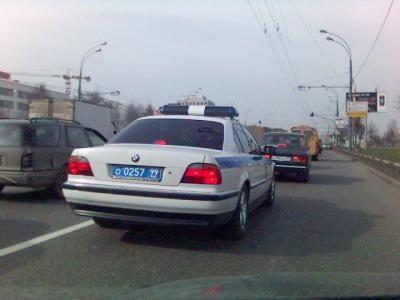 BMW 7-series E38 Police Car
