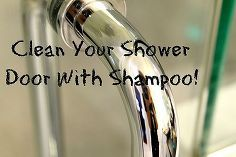 use shampoo to clean your glass shower door, bathroom ideas, cleaning tips, Shampoo is made to cut grease and dirt from your hair It does the same for a shower door You don t need any fancy glass cleaners This will work better than anything
