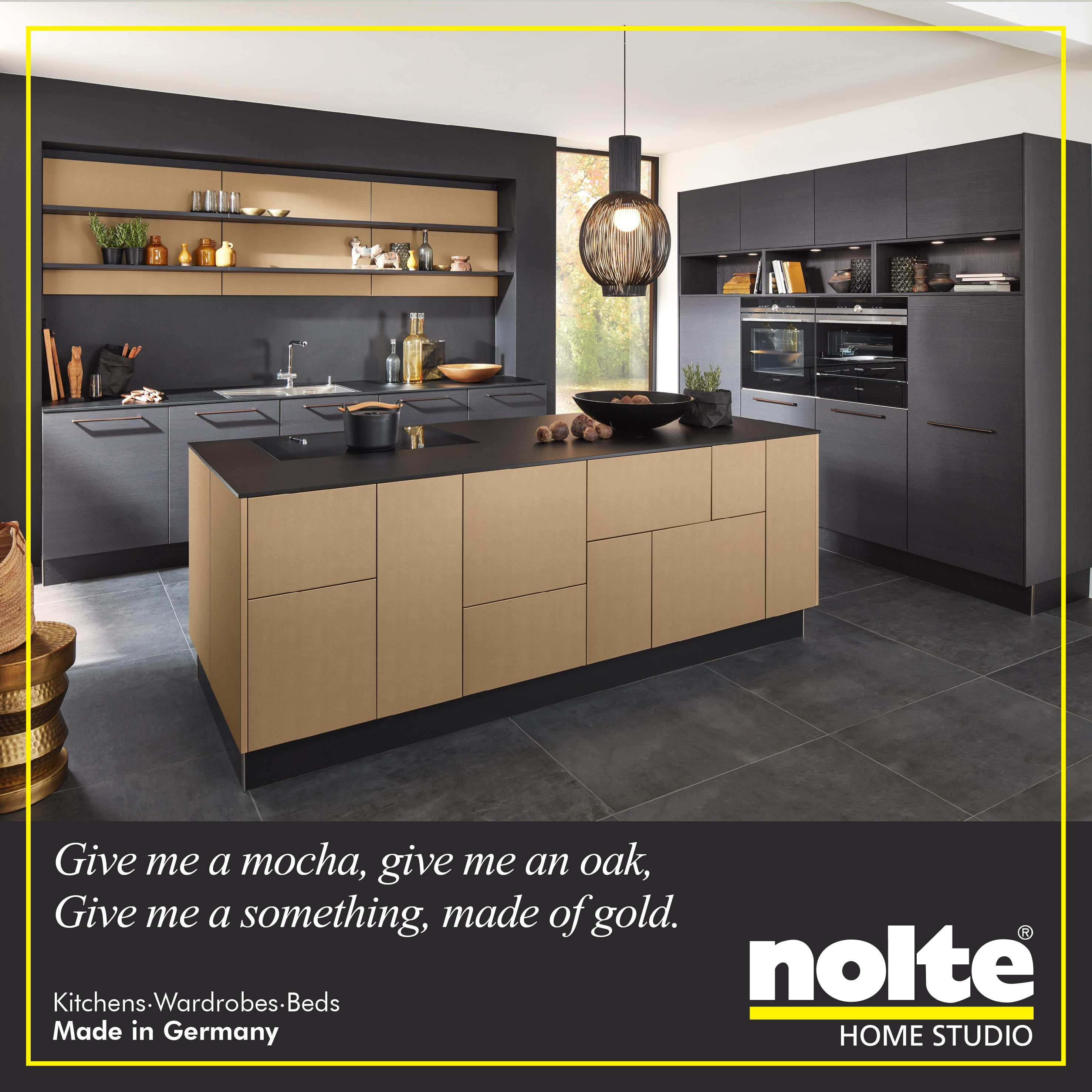 Charming The Nappa Kitchen Has An Island Front In Nature Mocha Oak And The Cabinet  Front In Nice Ideas