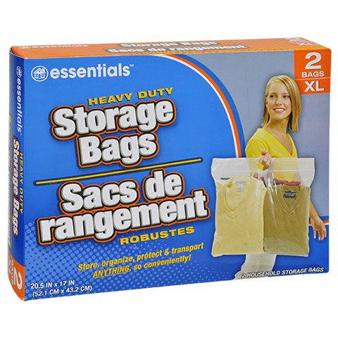Essentials Extra Large Plastic Storage Bags With Handles 2