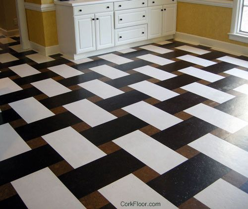 Basketweave Cork Tile Floor From Globus Contemporary Tiles