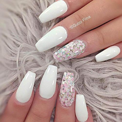 Fancy White Coffin Nails Designs See More Https Glaminati Com White Coffin Nails Designs Ballerina Gel Nails Coffin Nails Designs White Acrylic Nails