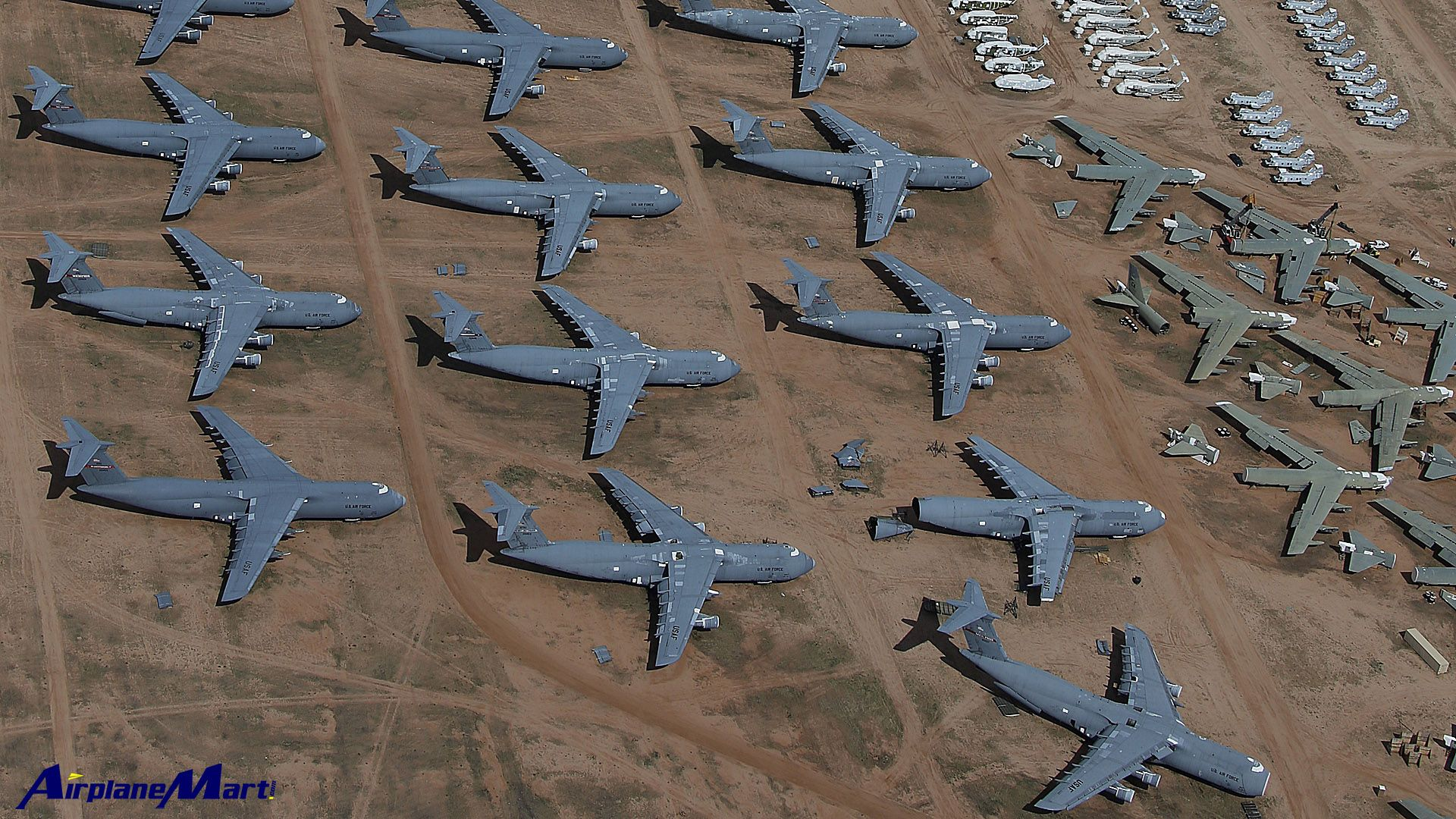 Military Aircraft Graveyard Davis Monthan Air Force Base