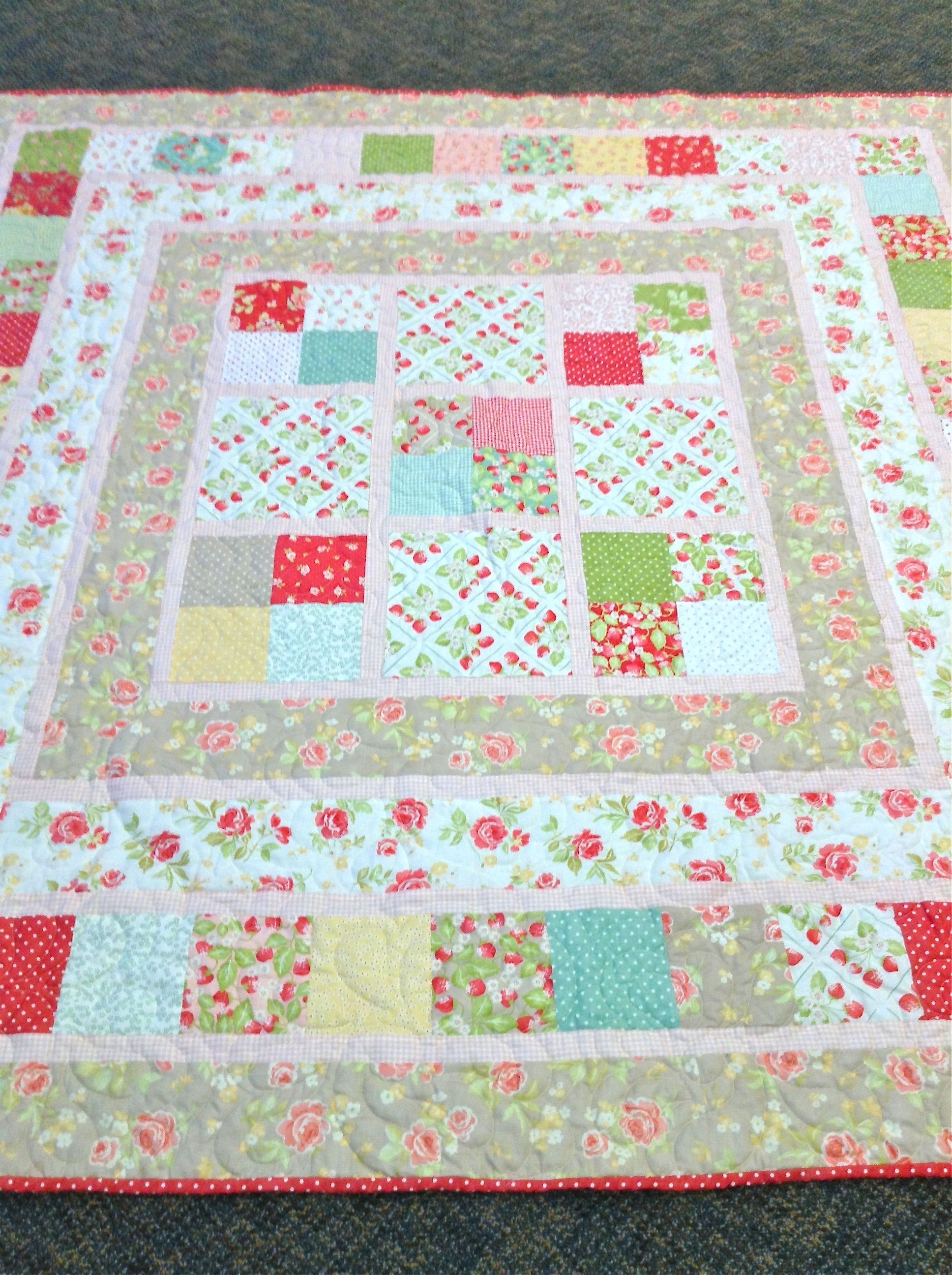Fabric Is From Thestrawberry Fields Collectionfrom Fig Tree Quilts Pattern Is Picnic