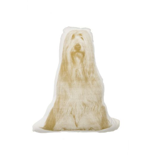 Areaware Mini Bearded Collie Polyester Throw Pillow Bearded Collie Contemporary Decorative Pillows Animal Pillows