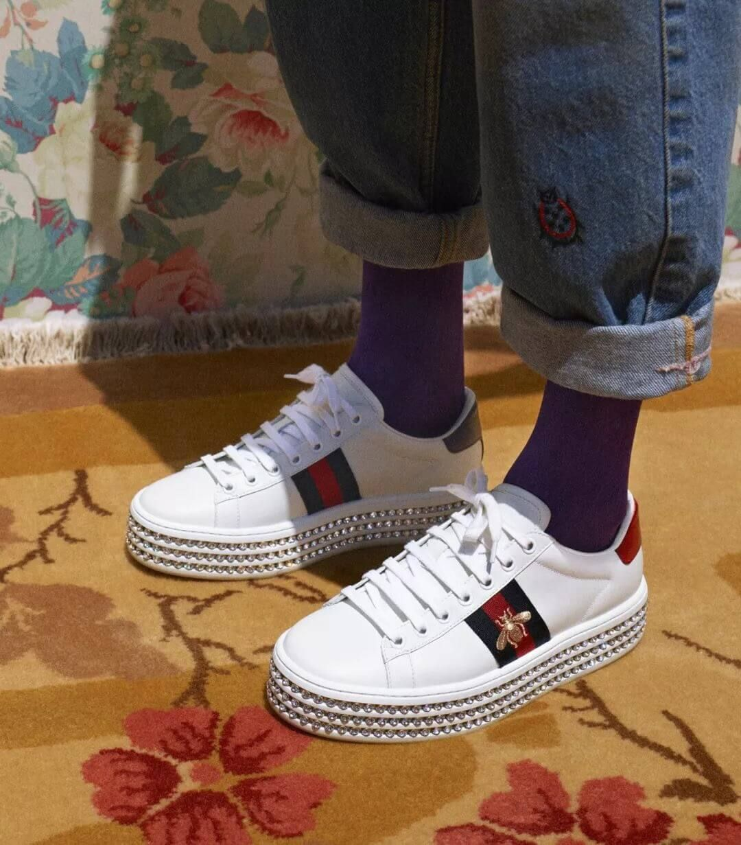 c44d317fb83 Gucci Ace Sneaker with Crystals 505995 2018
