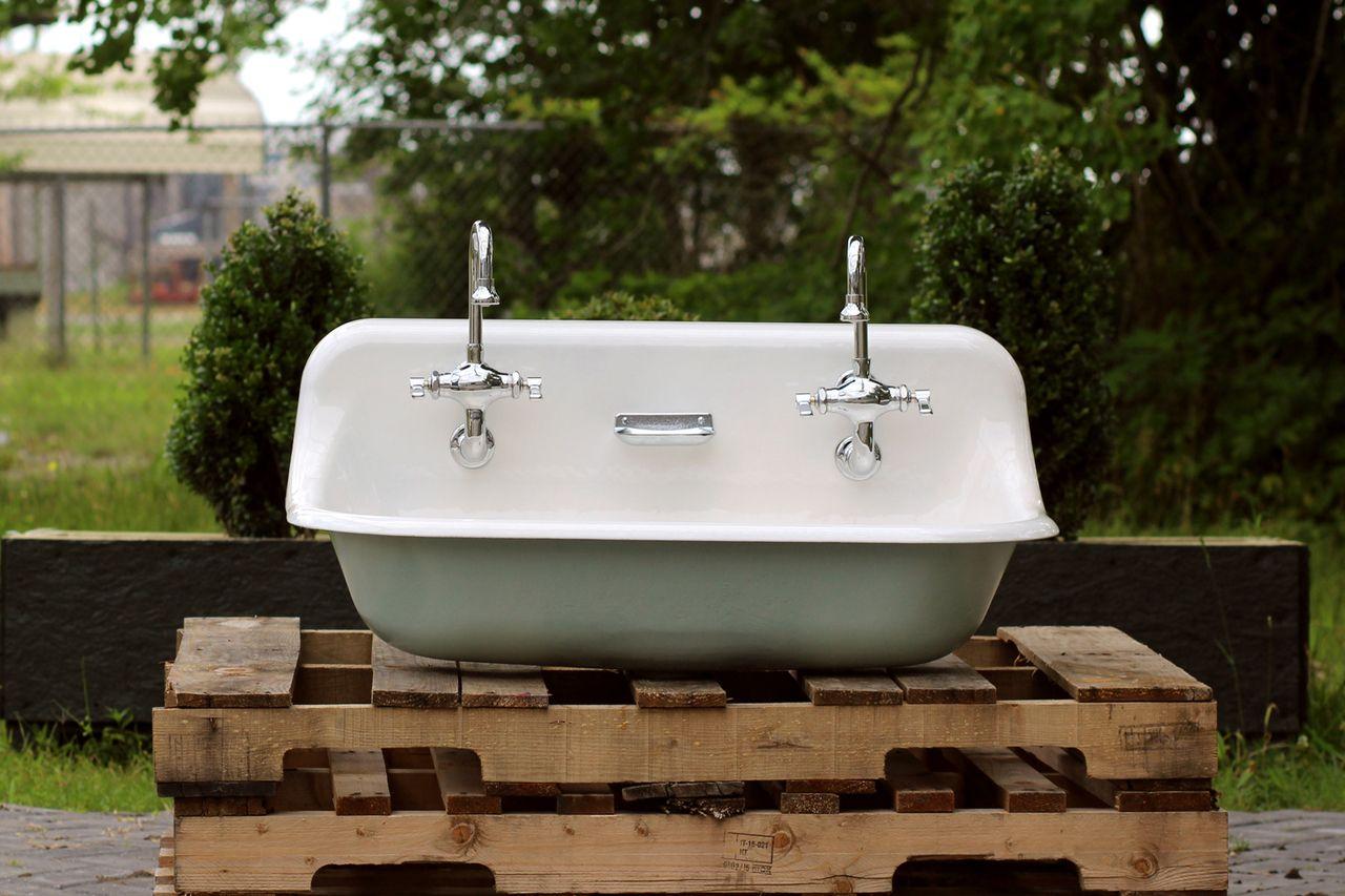 36 antique inspired kohler farm sink green blue cast iron
