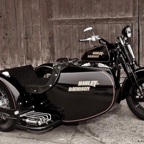 Harley Davidson at it's finest, LG JJ ~ Sidecar Motorcycle