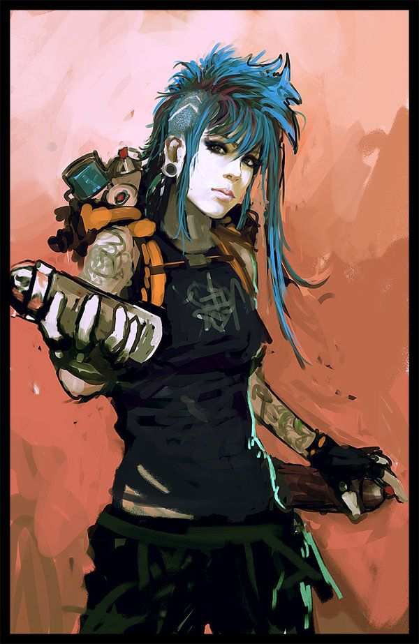 Street tagger - wip by ~StandAlone-Complex on deviantART | Anime ...