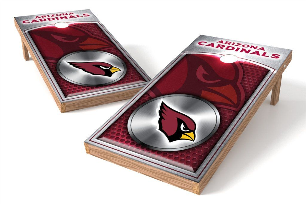 Arizona cardinals 2x4 cornhole board set medallion
