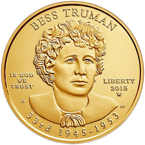 United States 2015 Bess Truman $10 Gold Coin