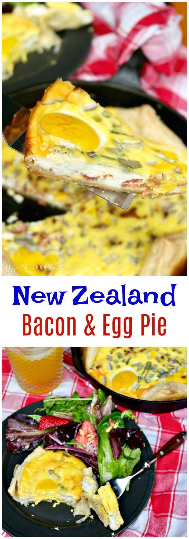 New Zealand Bacon And Egg Pie Easy Open Face Style Recipe Egg Pie Breakfast Recipes Easy Breakfast Brunch Recipes