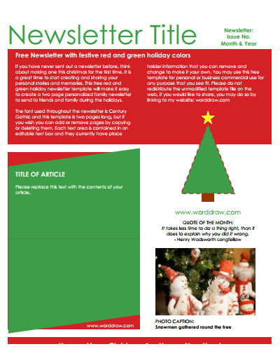 Christmas Newsletter Template Download Create Edit Fill And