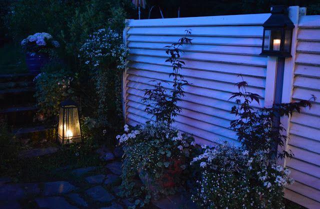Annen kotona ja pihalla: Pimenevät hiljaiset illat...