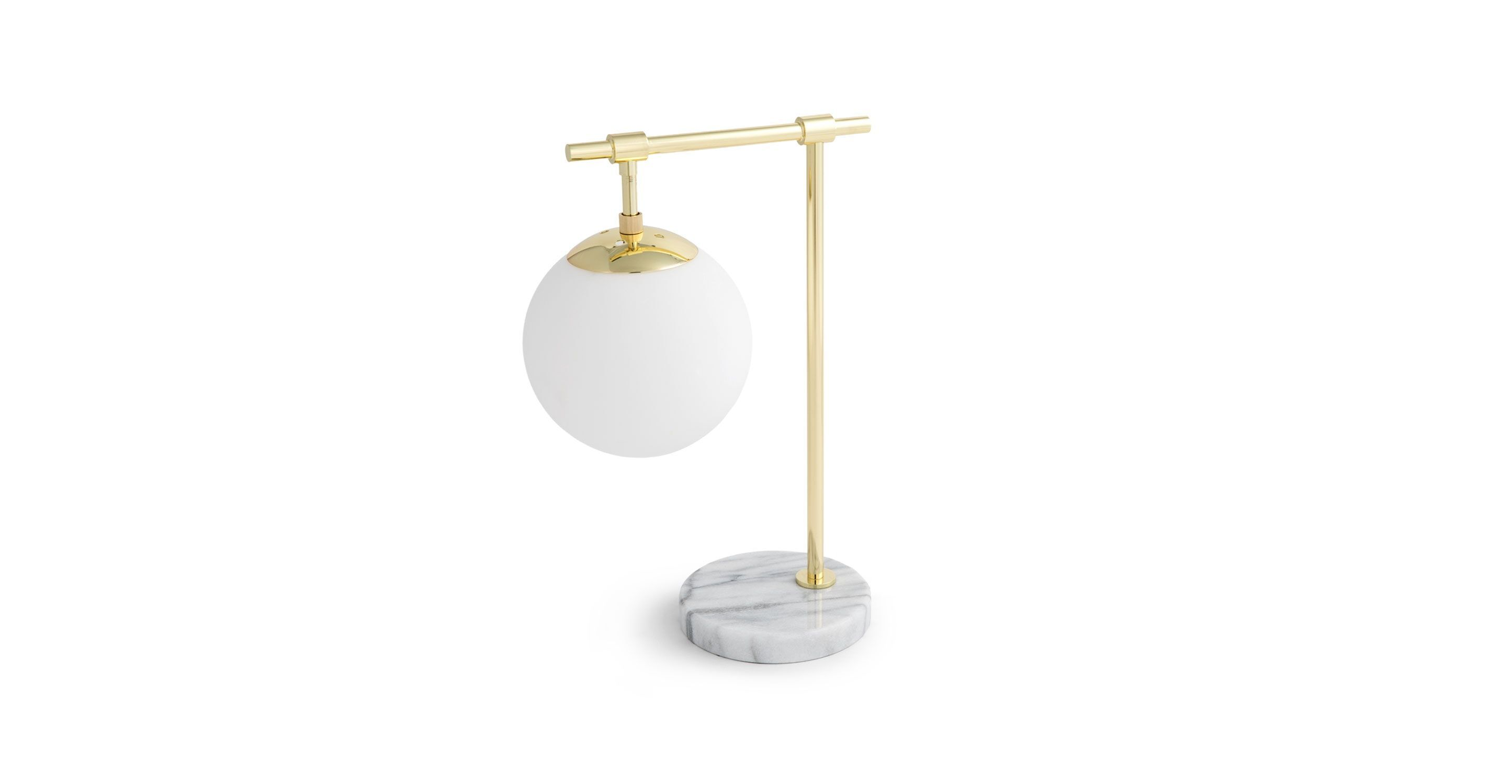 Lovely Gold Table Lamp, Marble Base | Article Pendula Contemporary Lighting