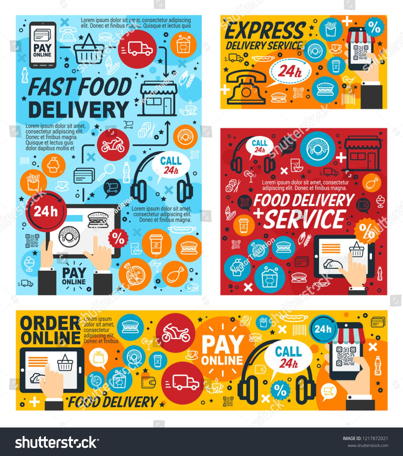 Fast food delivery service, online order of fastfood