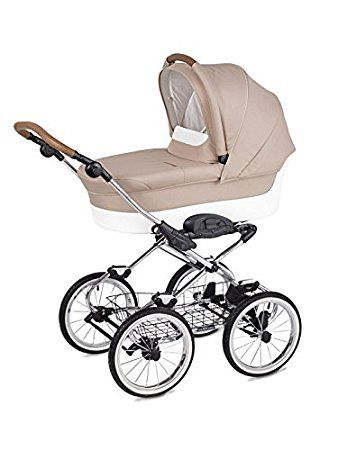 Caravel Luxus Retro Kombi Kinderwagen Klassisch 2in1 Baby Wanne Und  Sportwagen Stoff: Amazon.de