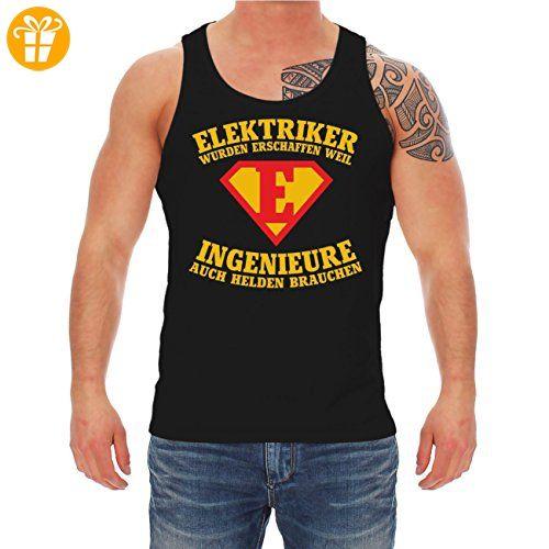 Männer und Herren Trägershirt ELEKTRIKER wurden erschaffen (*Partner-Link)